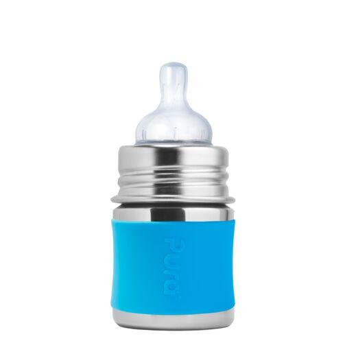 Pura Kiki Babyflasche 125 Ml Mit Silikon-sleeve aqua