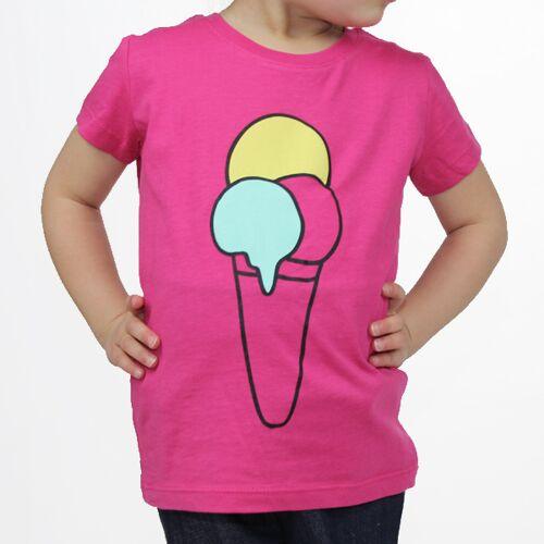 "Carlique T-shirt ""Ice Cream"" - Himbeere himbeere 9-11y"