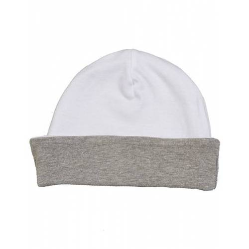 Babybugz Baby Organic Slouch Mütze Lange Mütze weiß/heather grey melange