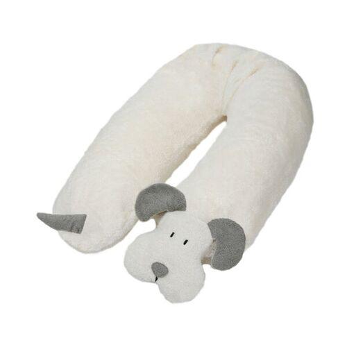 Efie Stillkissen Hund Mit Dinkelspelz Gefüllt (Grau) grau