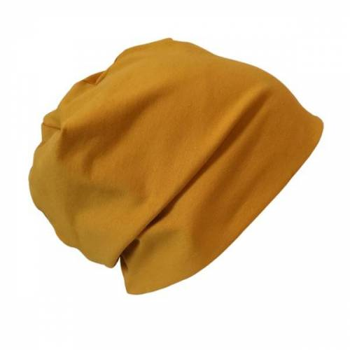 "bingabonga Mütze ""Line"" Uni Gelb-, Rot- Und Lila-töne senfgelb XS"