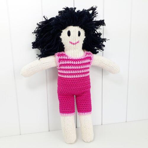 bosnanova Strickpuppe Puppenjunge Kiko pink