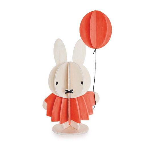 Lovi Süßer Holz-miffiy Mit Ballon Zum Selbstaufbauen Und Bemalen