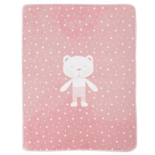 david fussenegger Babydecke 70 x 90, Bär rosa