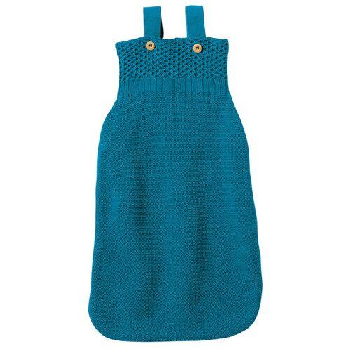 Disana Baby Strick-schlafsack blau 02 (75 cm mit träger)