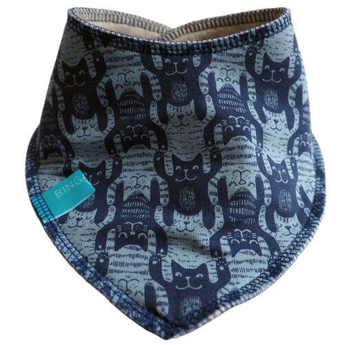 bingabonga® Winterfestes Wende-halstuch Cats blau