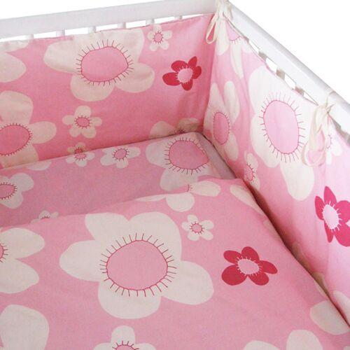 ingegerd Kinderbettwäsche Blume Rosa Für Wiege Und Kleinkindbett rosa nestchen