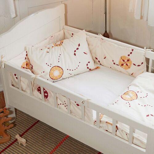 ingegerd Kinderbettwäsche Starflower Rosa Für Wiege Und Kleinkinderbett rosa nestchen