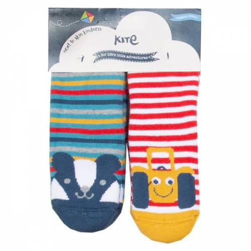 Kite Clothing Kite Baby Und Kinder Anti-rutsch-socken 2er-pack rosa/beige /geringelt / blau/gelb/rot geringelt 68
