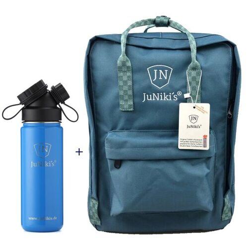 JN JuNiki's Promotion-set: Juniki´s Rucksack + Juniki´s Trinkflasche 550ml trinkflasche blau