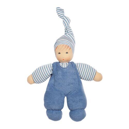 Nanchen Puppe Wuschel Bio-baumwolle/bio-wolle blau