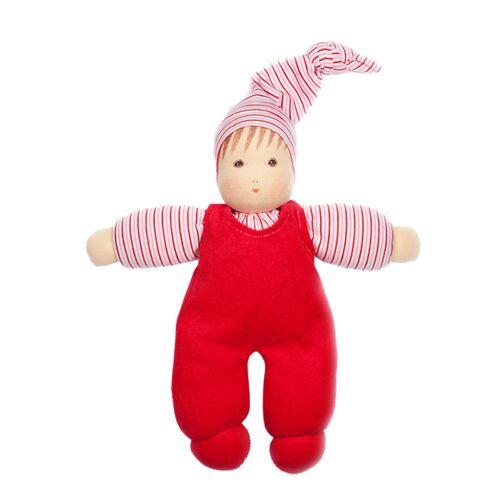 Nanchen Puppe Wuschel Bio-baumwolle/bio-wolle rot