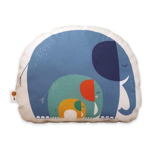 TELL ME Kleines Kissen Elefanten Aus Bio-baumwolle