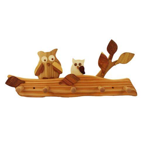 Mitienda Shop Kindergarderobe Aus Holz   Eule