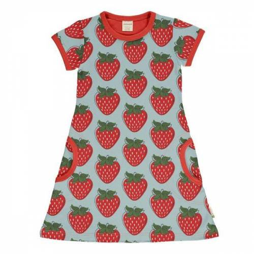 maxomorra T-shirt Kleid Strawberry Gots strawberry 86/92