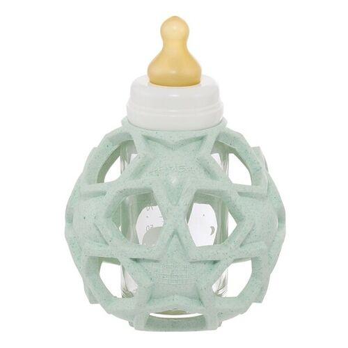 Hevea Baby Bottle - Babyfläschchen Aus Glas +Star Ball Upcycled - 3 Farben mint