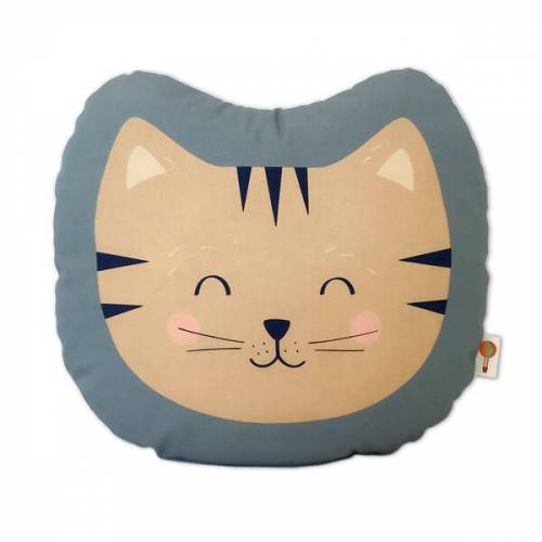 TELL ME Kleines Kissen Katze Aus Bio-baumwolle