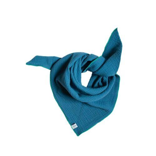 lomaja Musselin Halstuch blau