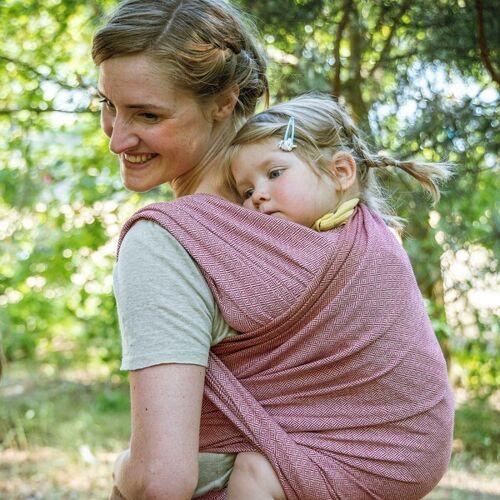 "Mama Nuka– Dein Babytragetuch Veganes Babytragetuch ""Ruby"" 100% Bio-baumwolle ruby 5.20m"