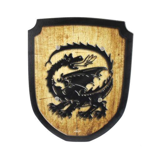 Mitienda Shop Wappenschild Drache Holzspielzeug
