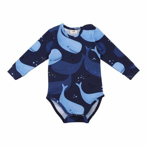 Walkiddy Langarm Baby Body *Smiling Whales* Gots Bio   Walkiddy  92