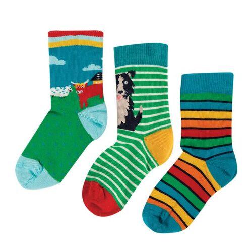 Frugi Kinder Socken 3er-pack  31-34