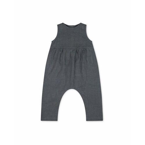Matona Leinen Jumpsuit Für Kinder - Einteiler storm blue 1-2 jahre