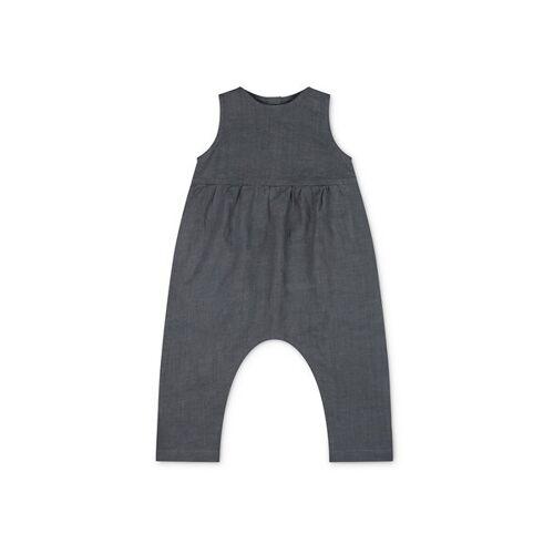 Matona Leinen Jumpsuit Für Kinder - Einteiler storm blue 3-4 jahre
