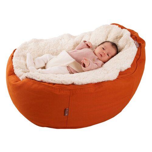 Baby EcoEgg® Babysitzsack Bio Plüsch Auflage Mit Haltegurt & Höschen - Safety
