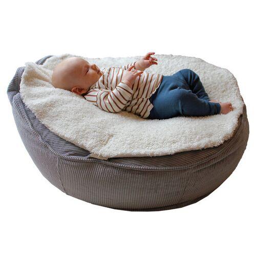Baby EcoEgg® Kuschelige Babysitzsack Auflage Aus Bio Teddyplüsch - Easy