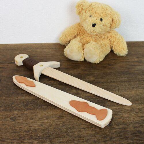 Mitienda Shop Holzschwert Mit Holzhülle Hell, Spielzeug