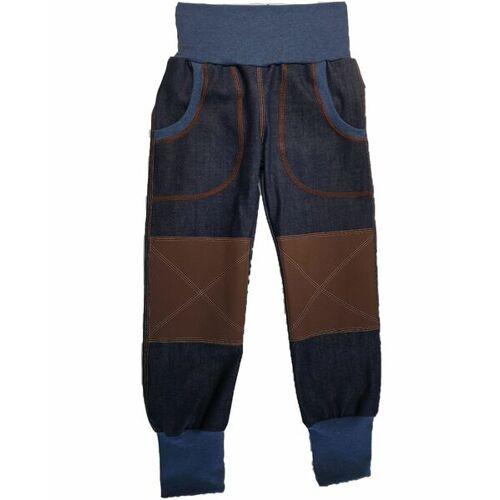 Omilich Mitwachs-bio-jeans Mit Braunen Cordura®-Knieflicken blau 140