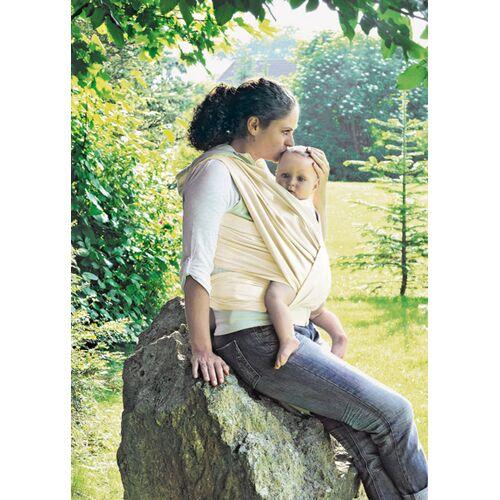 Lotties Baby Tragetuch Aus Bio Baumwolle Stoff Natur Ver. Größen beige 510 cm