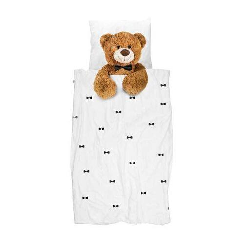 Snurk Kinderbettwäsche Teddy 135 x 200 Cm , 100 % Bio-baumwolle