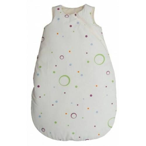 Popolini Baby Schlafsack Weiß Mit Bunten Punkten Und Lavalanfüllung Bio Baumwolle weiß/bunt s (70cm)