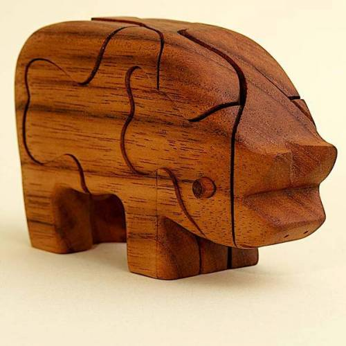 Ecowoods 3d Holzpuzzle - Schwein