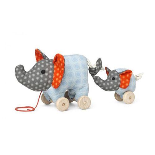Franck & Fischer Nachziehtier Elefant Noma + Baby Nachziehspielzeug