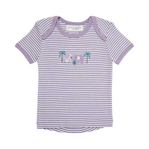 sense-organics Baby T-shirt, Kurz weiß/lila 74