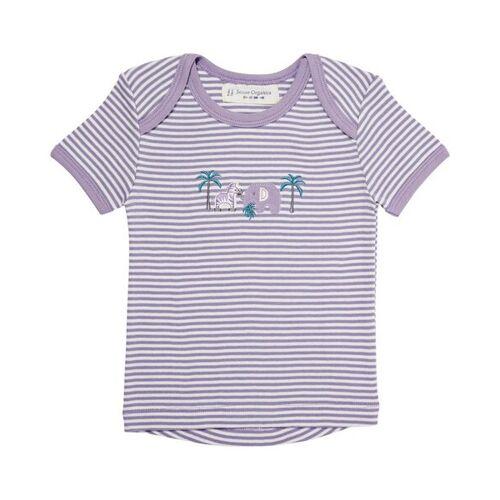 sense-organics Baby T-shirt, Kurz weiß/lila 92