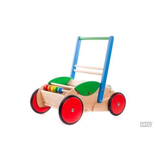 BAJO Holzspielzeug Bajo Lauflernwagen Stabil Und Wunderschön Für Ihre Kleinen Ideal Blau-grün blau