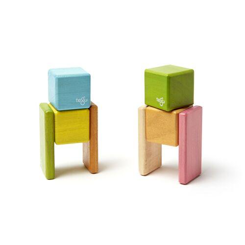 Tegu Magnetische Holzblöcke (Farbig) Im Taschenbeutel (8-teilig)