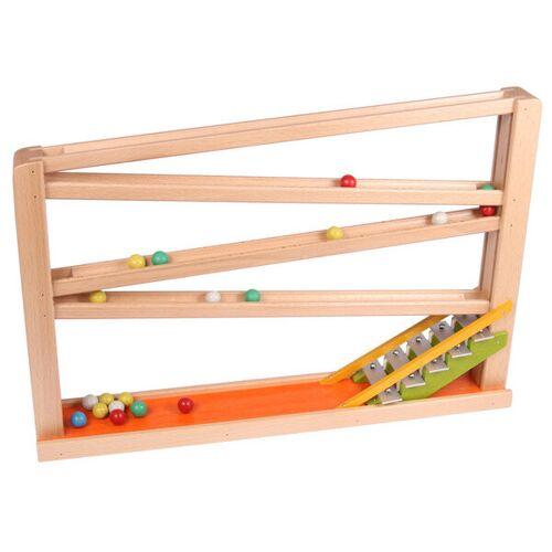 Beck Holzspielzeug Kugelbahn Mit Glockenspiel Version 2