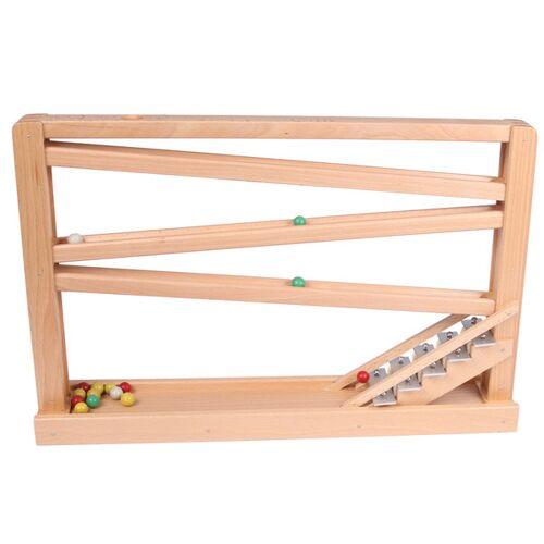 Beck Holzspielzeug Kugelbahn Mit Glockenspiel