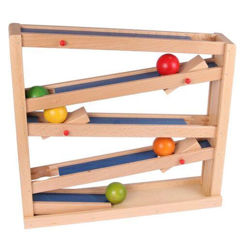 Beck Holzspielzeug Stop Und Go Kugelbahn