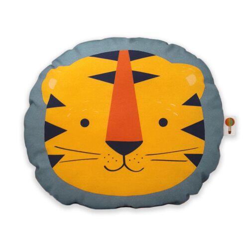 TELL ME Kleines Kissen Tiger Aus Bio-baumwolle