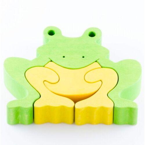 Fauna Puzzle Frosch Grün Gelb Nachhaltig Fauna grün