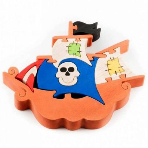 Fauna Puzzle Piratenschiff Bunt Nachhaltig Fauna bunt