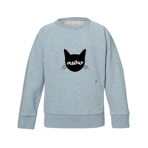 Kultgut Sweatshirt Mit Motiv / Meow hellblau 5-6 jahre
