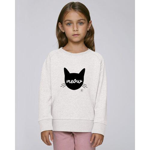 Kultgut Sweatshirt Mit Motiv / Meow sandgrau 9-11 jahre