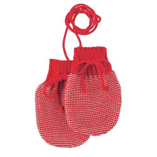Disana Baby Strick-handschuhe rot/rose größe 0 (ca. 0-5 monate)